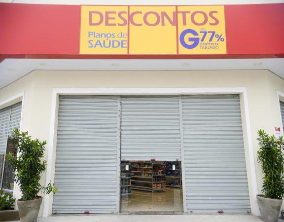Vitória (ES) - Grande parte do comércio permanece fechado em Vitória.  (Tânia Rêgo/Agência Brasil)
